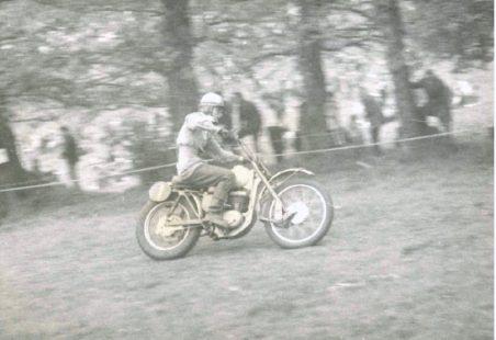 Motorbike Scrambling on the Downs