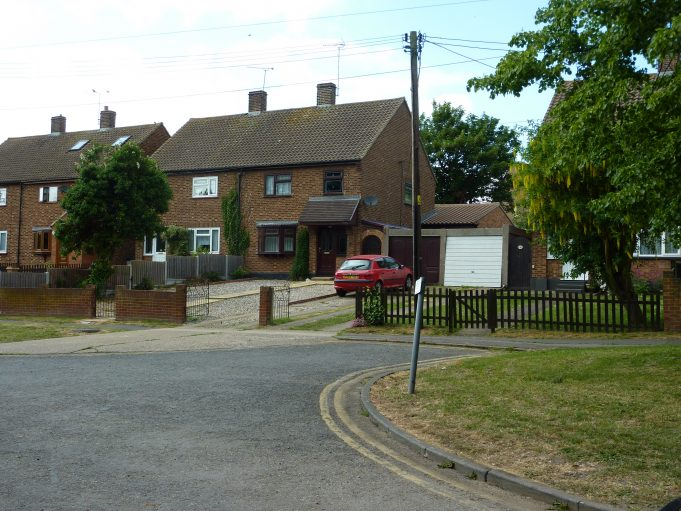 The same houses in Hall Farm Close May 2011, with additional garages and well grown gardens. | Margaret March