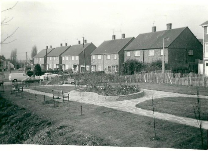 The garden between Hall Farm Close and St Mary's Close 1954 | From the collection of the late Kath Fisher with the permission of Paddy Marrisson