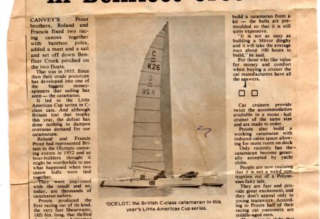 The Prout brothers   -  pioneers in the development of  catamarans