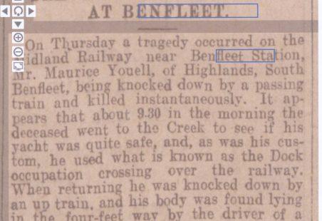 Railway Tragedy at Benfleet