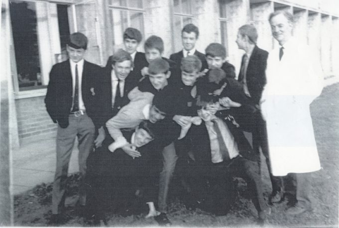 Science class - Teacher in the white coat is Mr Neale | Glenn Newman