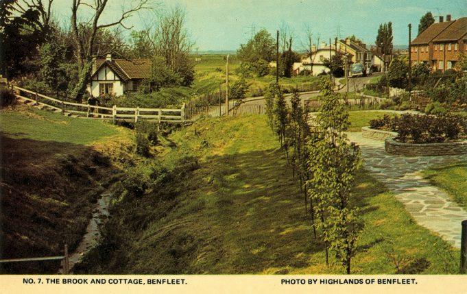 Postcard.  The Brook and Cottage. | Highlands of Benfleet