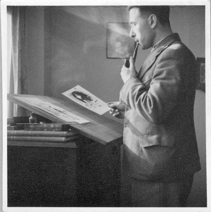 C.W. Comerford, at the Drawing Board | Janet Hayward