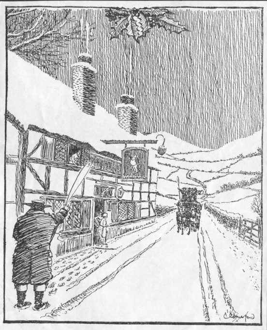 Leather Bottle Public House in winter | by C W Comerford, courtesy of Janet Hayward