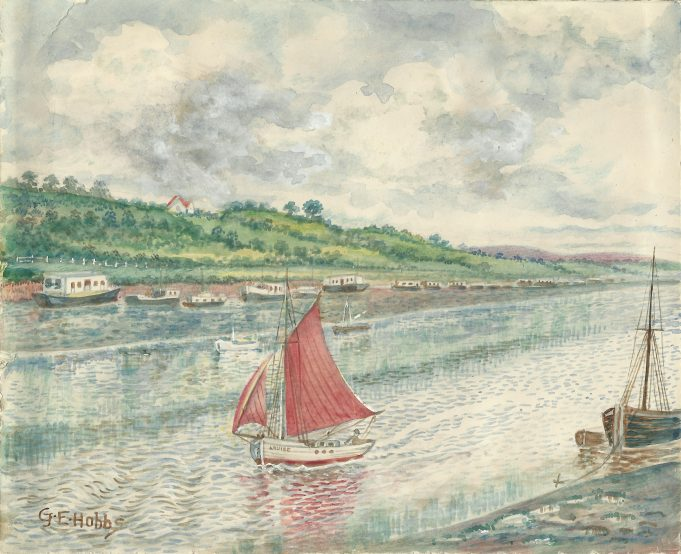 Watercolour of Benfleet Creek with Ray View in the background. | Geoff Peck