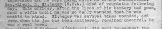 A reference to Dennis St Leger's death in the War Diary of the Battalion (2/6 Sherwood Foresters (Nott's and Derby)) he | From  Niall Stoddart who is researching the War Memorials of Blandford schools