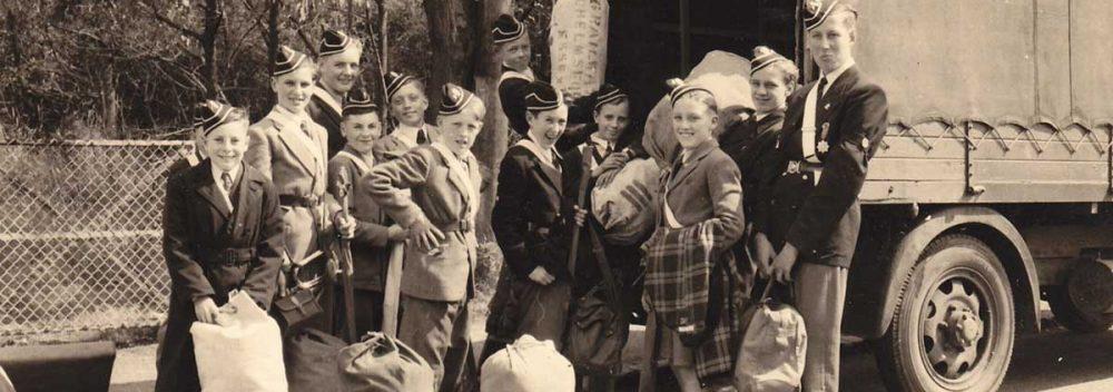 Boys Brigade going to camp