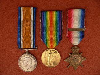 7. WW1 Medal Trio.