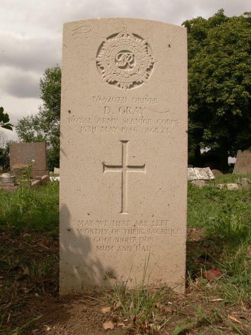 Grave of Donald Gray. | Ronnie Pigram
