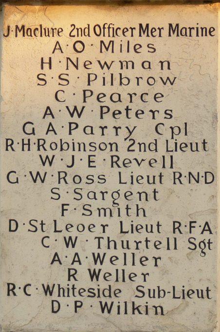 WW1 Memorial Panel | Ronnie Pigram