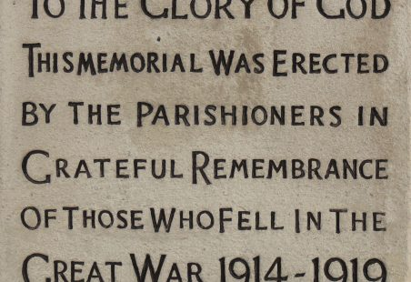 WWI Memorial.  1914-1919