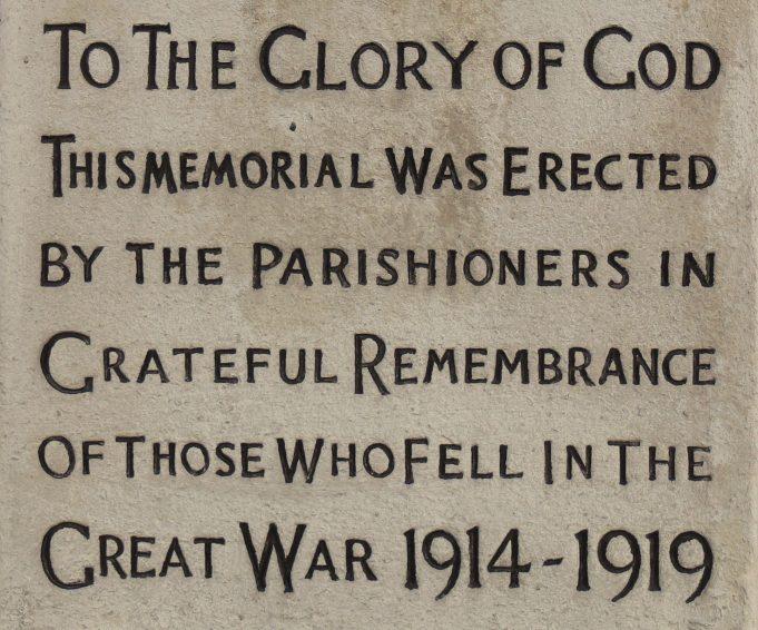 WW1 War Memorial Panel | Ronnie Pigram