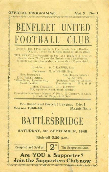 4th September 1948: v Battlesbridge