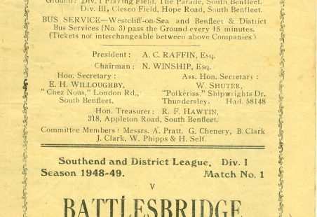 Benfleet United F.C. - Match Programmes
