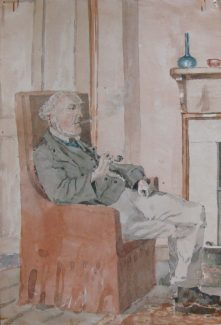 Joseph Augustus Browne painted by Charles Archibald Nicholson