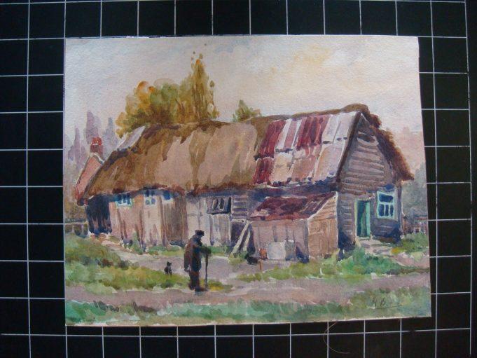 Rear of old barn. High Road ( Hall Farm barn) 1950