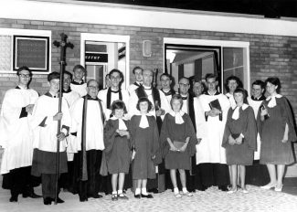 Clergy and choir for the dedication of the new Church 1964