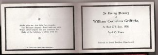 A. W. Alden & Sons Memorial Card | Medals of England