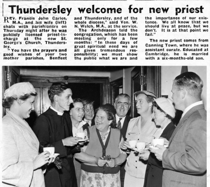 Newspaper report of the appointment of the first priest of St George's Church. | Southend Newspapers