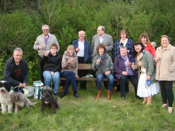Friends and neighbours raise a glass in memory of Ted Cook