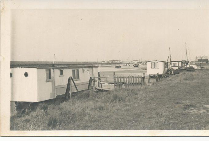 Houseboats east of bridge on the Benfleet side