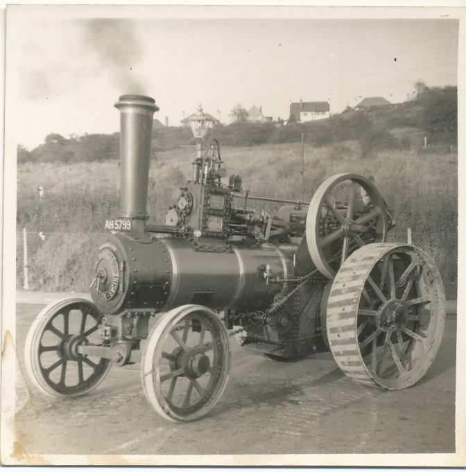 Traction engine still at work