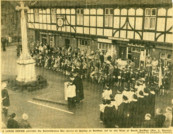 Remembrance Day Service 1960 | Jackson's Canvey Island