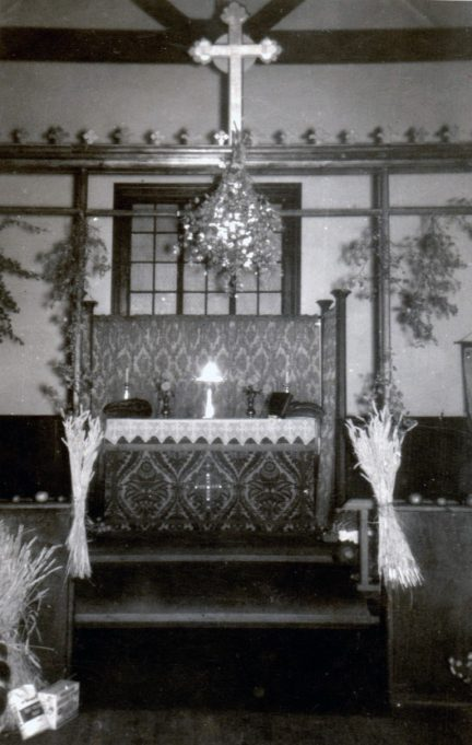 Altar of old church building