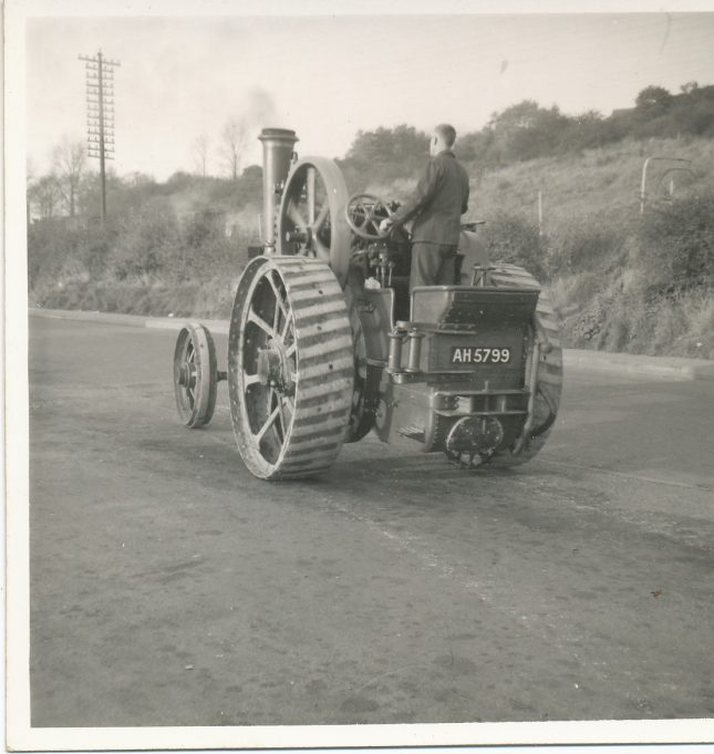 Traction engine on the move