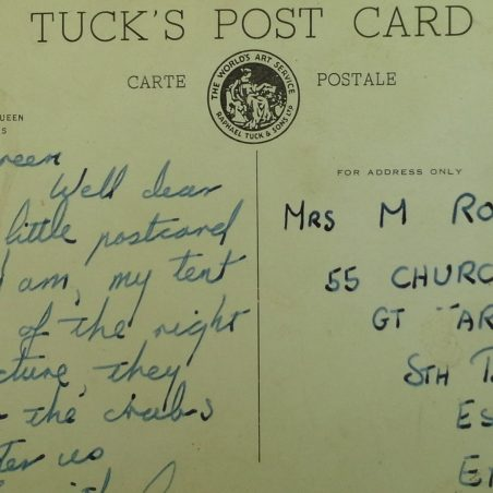 Rear of postcard | Ernie Rogers