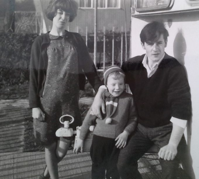 Maureen and Ernie Rogers with their son David at Dark Lane, 1961 - 1964. | Ernie Rogers