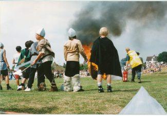 The Viking longshgip burns   Supplied by Diana Hawkins