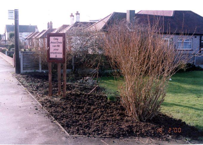 The church garden 2000.