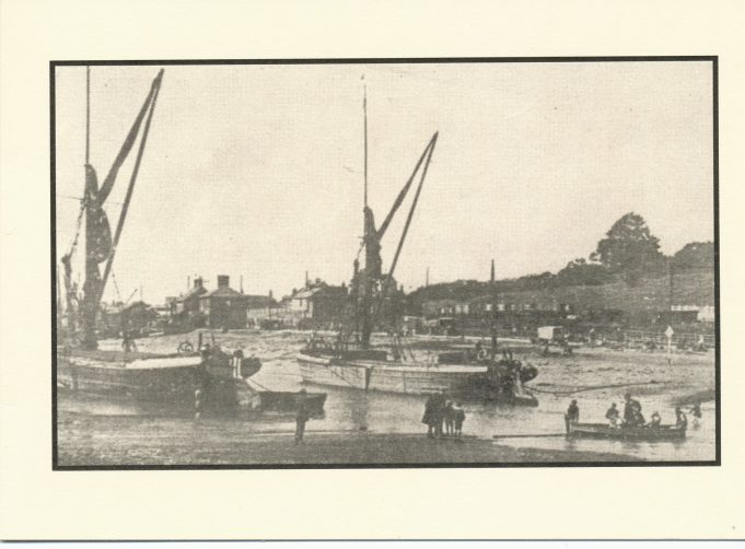 Barges in the creek before 1920