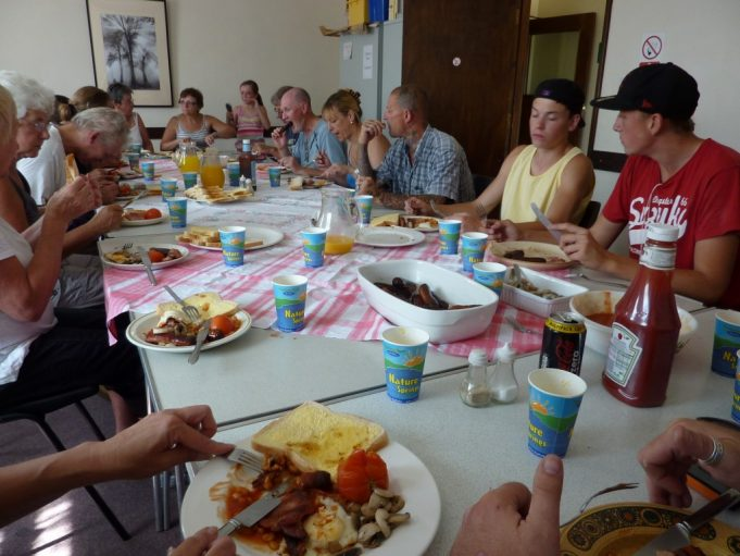 Brunch after clean up in Aug 2012.
