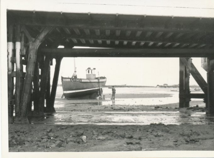 Leigh registered fishing boat through the bridge