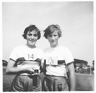 Veronica Cunningham and Diane Watts - Sporting Event 1959 | Ann Morrison collection