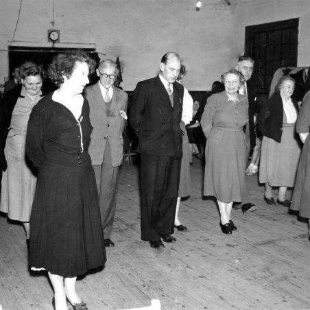 Old time dancing at St George's church hall, Mr Cod with glasses, Stan Easter next and Mrs Garrett on right hand side. | Ina Osborne