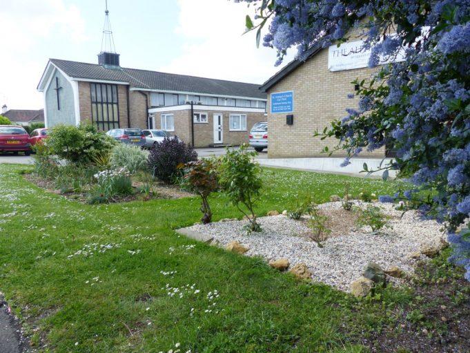 Garden near church extension 2014.