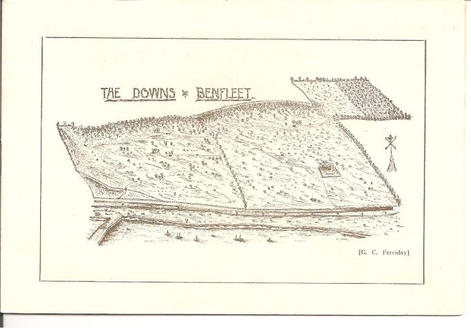 A sketch map of The Downs from the souvenir programme. | Ian Johnson