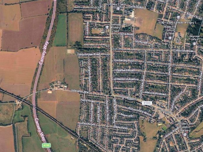 Aerial View of Benfleet in 2014 | www.bing.com