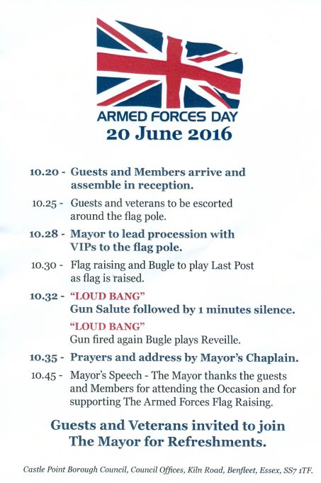 Programme for Armed Forces Day | CPDC