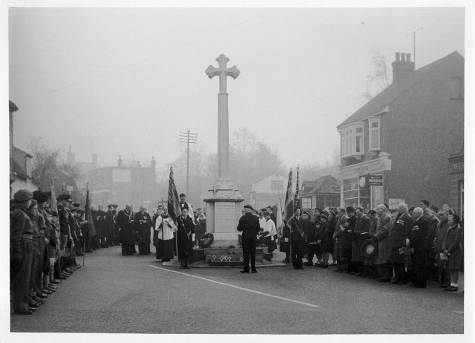 Benfleet War Memorial - Armistice Day late 40s or early 50s | Jackson's Photo Service