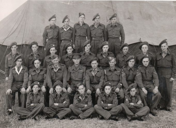 Benfleet Army Cadets at camp, thought to be in the Folkestone area sometime between 1944 and 1947 | From the family collection