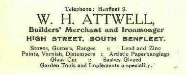Shop 8. - Advert for W H Attwell | B.U.D.C.