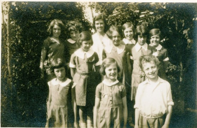 This smaller group photo shows a teacher, probably not Miss Steggles but who is she? Front row far right is Christopher Gardner and Audrey Martin is the young lady in the middle row in the centre. | Julie Summers