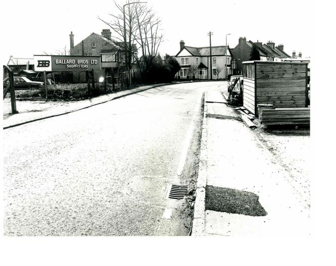 Looking towards Benfleet and on the corner Ballard Bros. shopfitters | Castle Point Council