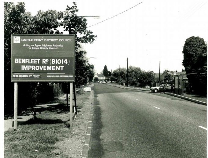 Looking along Benfleet Road with King John School just to the left. | Castle Point Council