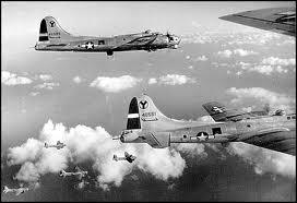 B17 bombers in flight